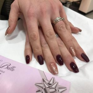 Matte gloss sparkle nail extensions