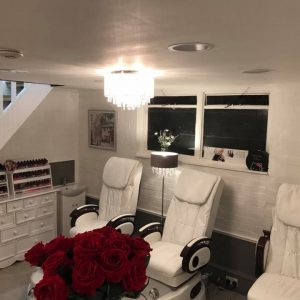 LaBelle nails and beauty salon interior pedicure chairs