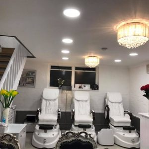 LaBelle Nails and Beauty Salon interior pedicure spa ground floor