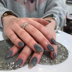nail extensions with glitter 090219 6