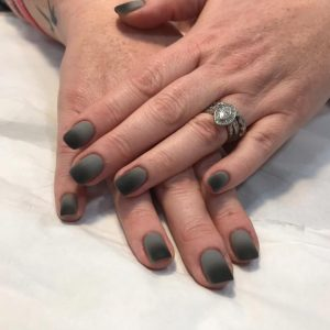 ombre nails matt black