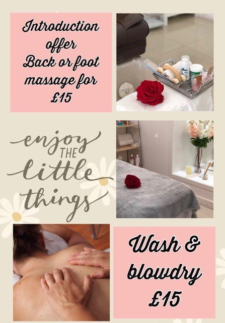 massage wash blowdry offer